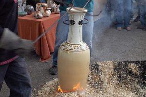 Váza americkým RAKU výpalem