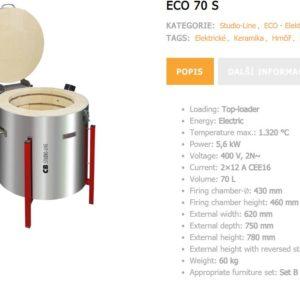 ECO 70 / TC 88 keramická vypalovací pec