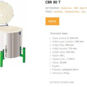 "Poklopové pece ""raku"" KITTEC CB-R 44 do teploty 1150 °C"