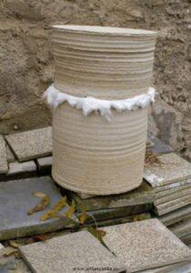 Pálení keramiky v sagaru