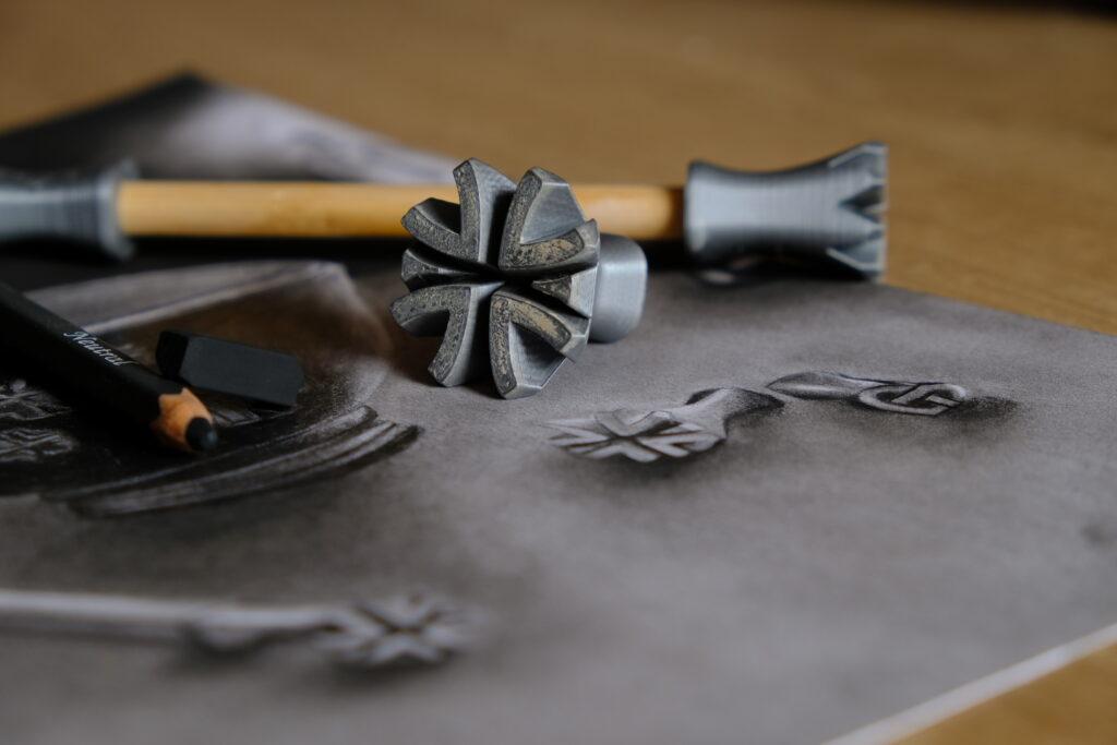 nástroje Rélyéf jako inspirace pro texturu