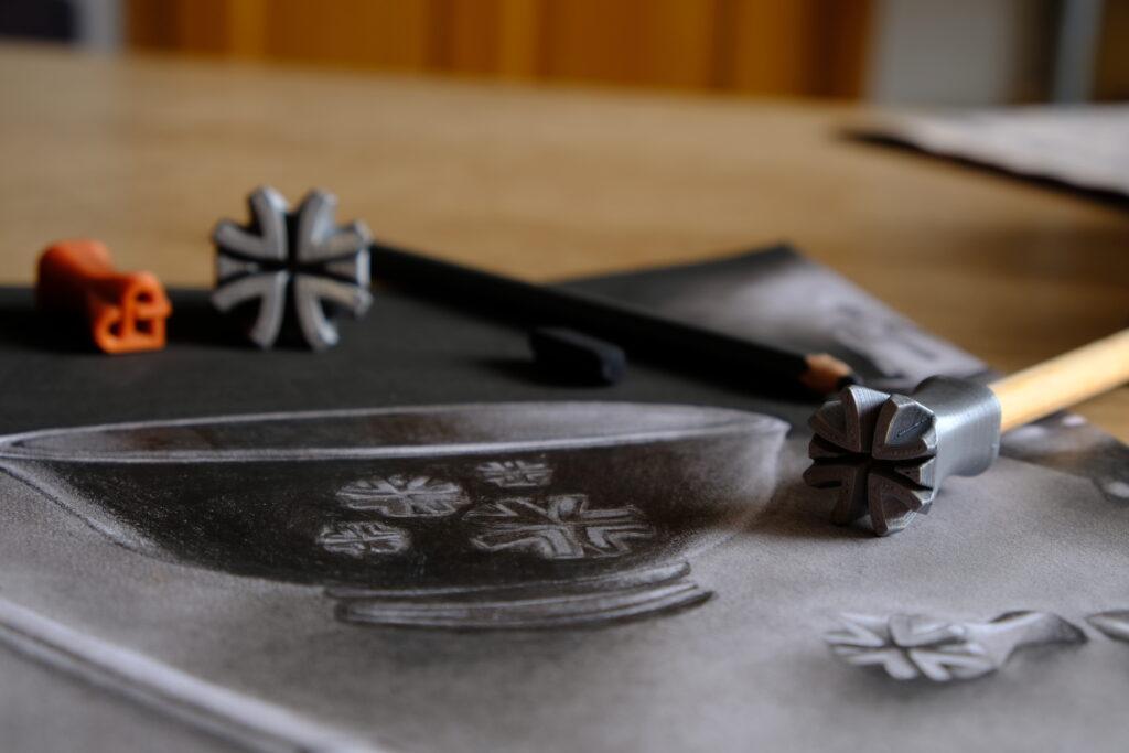 Keramická miska 2D dekorovaná Relyef miska